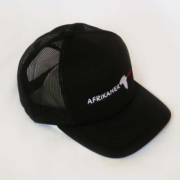 Black Trucker Cap Middle AfrikanerHart Side