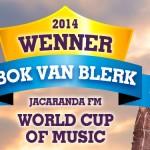 BOK VAN BLERK DEFEATS ONE DIRECTION, PINK, TO WIN WORLD CUP OF MUSIC 2014